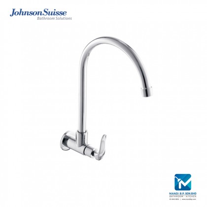 Johnson Suisse Fermo-N ½ inch wall-mounted sink tap with swivel (round) spout