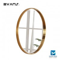 Evans Glass Panel Gold Framed,Vanity Mirror Decorative Mirror Durable - Golden