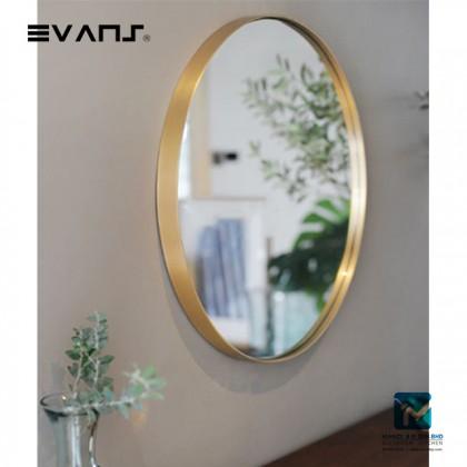 Evans Glass Panel Gold Framed,Vanity Mirror Decorative Mirror Durable - Golden