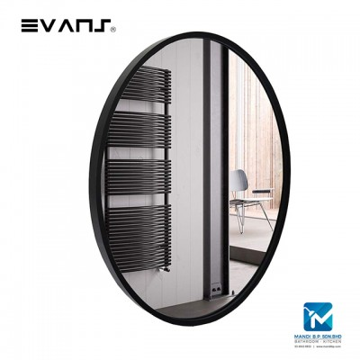 Evans Glass Panel Black Framed,Vanity Mirror Decorative Mirror Durable