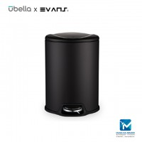 Evans X Upella Optimal Step Bin / Stainless Steel Dustbin 12L