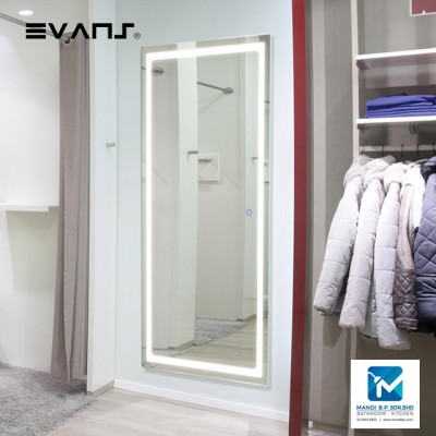 Evans Touch Sensor LED Light Bathroom /  Dressing Room Wall Hang Mirror Vertical / Horizontal