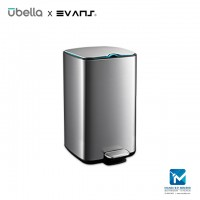Evans X Upella Knight Step Bin / Stainless Steel Dustbin 12L