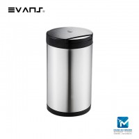 Evans Rounded Shape Sensor Stainless Steel Dustbin12L