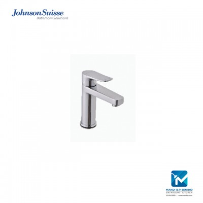 "Johnson Suisse Milano Single lever ½"" basin mixer without waste, stainless steel"