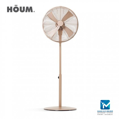 Houm 3 Speed Setting Gold Color Stand Fan 16 inch