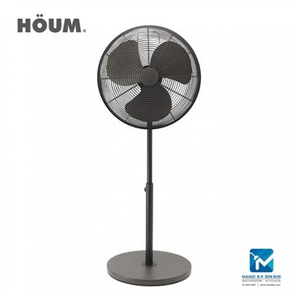 "Houm S Series 3 Speed Setting Table Fan 16"" Walnut Color"
