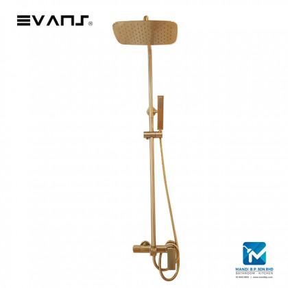 Evans Blattgold Shower Column Mixer