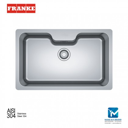 Franke Undermounted Bell BCX110-75 Stainless Steel