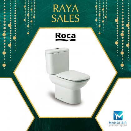 Roca closed-coupled wc with dual outlet. P-Trap or S-Trap 305mm