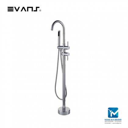 Evans Freestanding BathTub Faucet Mixer Brass Single Handle with Hand Shower