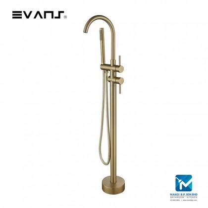 Evans Freestanding BathTub Faucet Mixer Brass Single Handle with Hand Shower-Gold