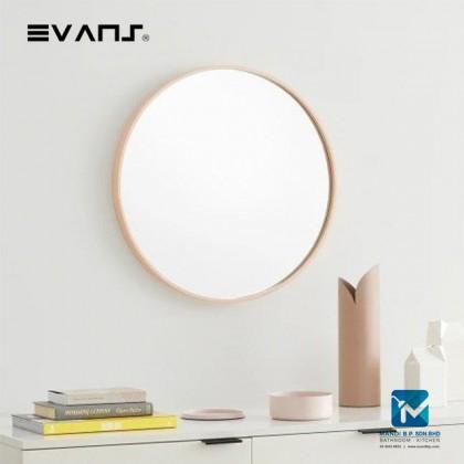 Evans Glass Panel Gold Framed, Round Mirror Decorative Mirror Durable - Golden 60cm
