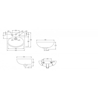 Johnson Suisse Boston 500 Wall-hung Basin