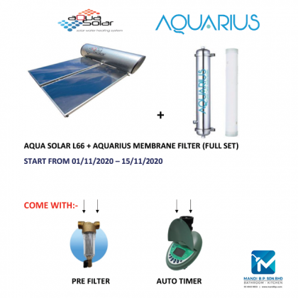 Aqua Solar L66 + Aquarius Membrane Filter ( Full Set )