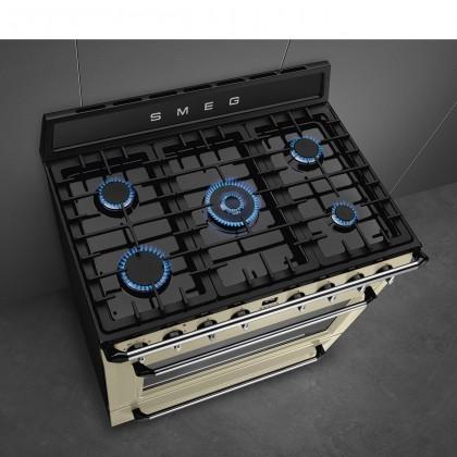 Smeg Victoria Series Chimney Cooker Hood, Dual Fuel Range Cooker