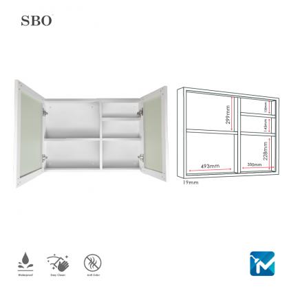 SBO Aluminium Mirror Cabinet (Extra Large)