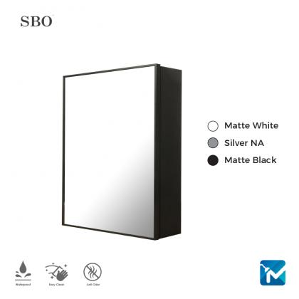 SBO Aluminium Mirror Cabinet (Small)