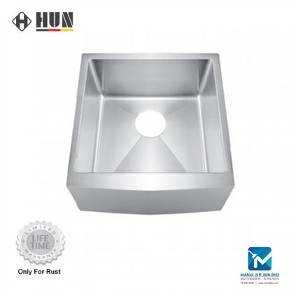 HUN Stainless Steel Apron Front Kitchen Sink (Single Bowl)