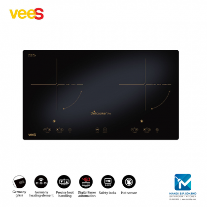 Vees Multicooker Duo Zone Electric Hob 450 / Fotile / Senz / Rubine / Rinnai / Teka