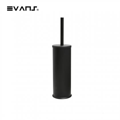 Eket No Nail / Drill Toilet Brush  - Matt Black