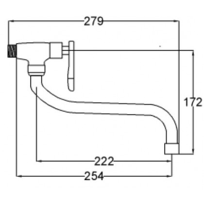 Wall-mounted Ablution Tap 512AX