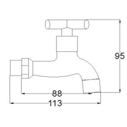 Wall Bib tap 11001F9