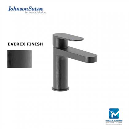 Johnson Suisse Ferla-N Single Lever Basin Pillar Tap with Pop-Up Waste - (Brushed Black)