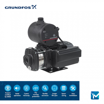 Grundfos Water Booster Pump (0.8HP) - CMB5-46PM1