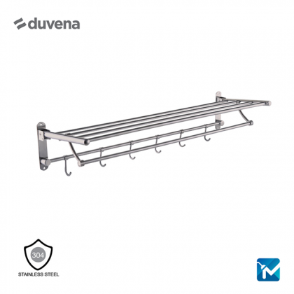 Duvena Stainless Steel Towel Shelf Rack - (Matt) ,800mm