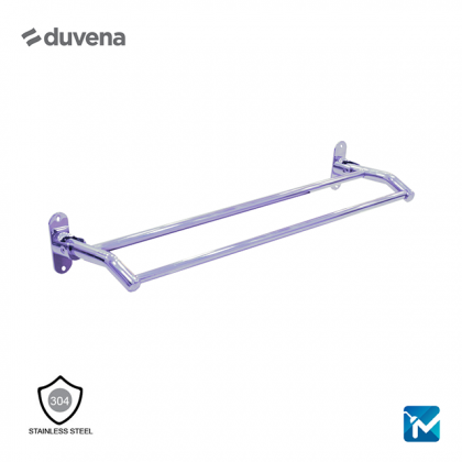 Duvena Stainless Steel Double Towel Bar - (Chrome) ,800mm