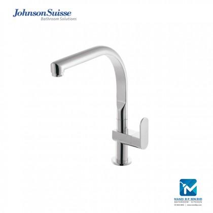 "Johnson Suisse Ferla Single lever ½"" deck-mounted sink tap with swivel (curve) spout"