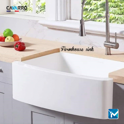 Cavarro Ceramic Kitchen Farmhouse Sink, Apron Sink CF241910