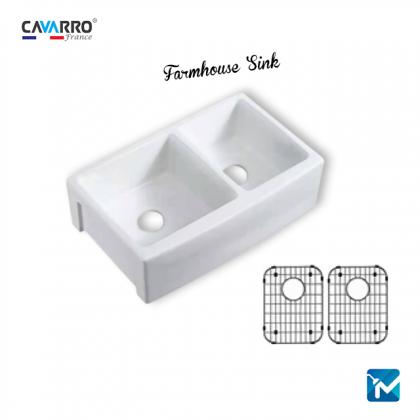 Cavarro Ceramic Kitchen Farmhouse Sink, Apron Sink CF332110D