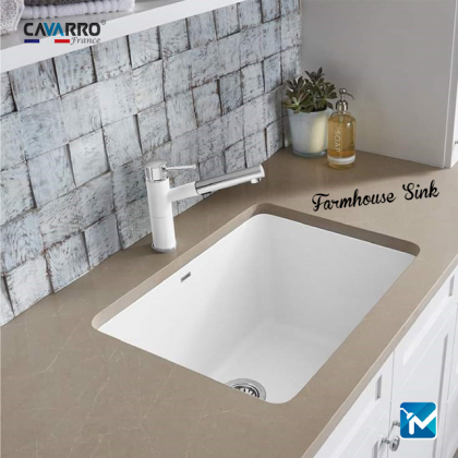 Cavarro Ceramic Kitchen Farmhouse Sink, Apron Sink CL241810