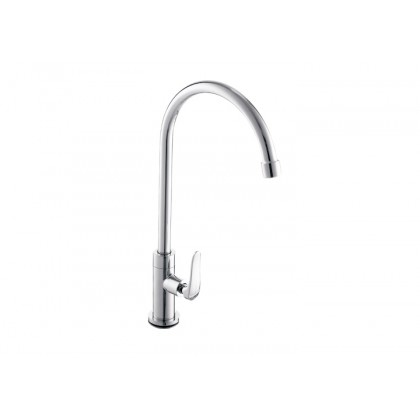Johnson Suisse Fermo-N Deck Mounted Sink Tap (Round Spout)