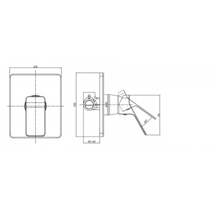 """""""Display Unit"""" Johnson Suisse Tirano Concealed Shower Mixer"""