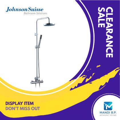 """Display Unit"" Johnson Suisse Ferrara Wall-mounted Shower Mixer Column Set"