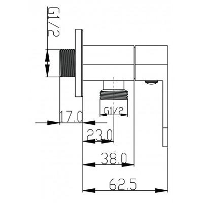 Johnson Suisse Ferla Angle Valve