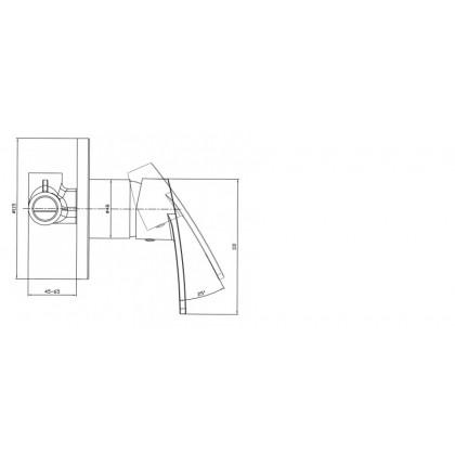 """Display Unit"" Johnson Suisse Galio Concealed Shower Mixer"