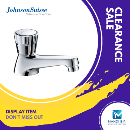 """""""Display Unit"""" Johnson Suisse Ravenna Basin Pillar Tap with Extended Spout (95mm)"""