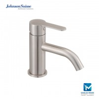 "Johnson Suisse Murano Single lever ½"" basin pillar tap, stainless steel"