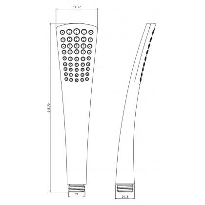 """Display Unit"" Johnson Suisse Kara Single Function Hand Shower"