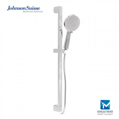 Johnson Suisse Baltic Shower kit with hand shower 1.75m flexible hose and 713mm slide bar (three function)