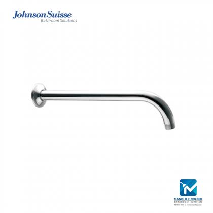 Johnson Suisse Brass Shower Arm and Flange (400mm) Round