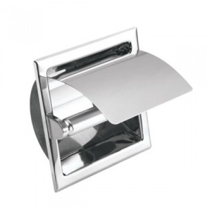 Johnson Suisse Commercial Semi-Recessed Toilet Roll Holder with Cover