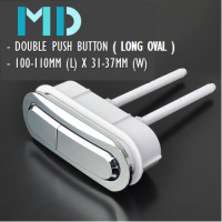 MD WC Oval Dual Flush Push Button (Long)