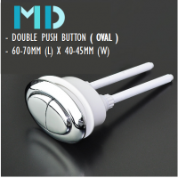 MD WC Oval Dual Flush Push Button