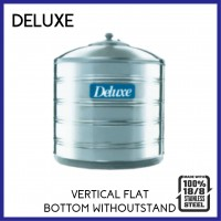 Deluxe 304 Stainless Steel Vertical Flat Bottom Without Stand Water Tank