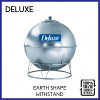 Deluxe 304 Stainless Steel Earth Shape With Stand Water Tank
